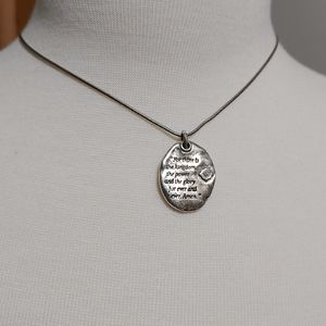 Brighton Lord's Prayer Necklace